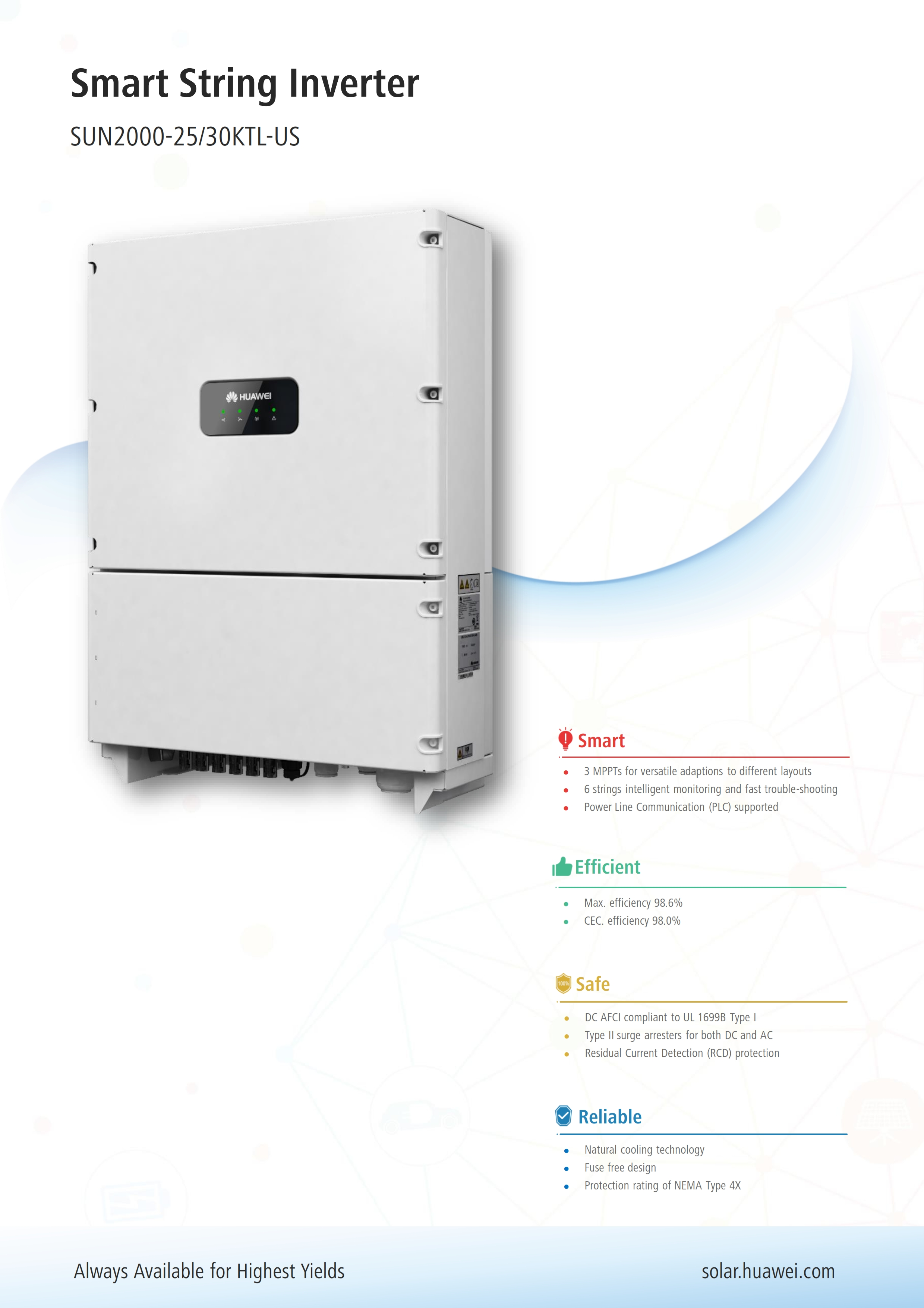 HUAWEI 25KW/30KW System – ACES – Atlantic Clean Energy