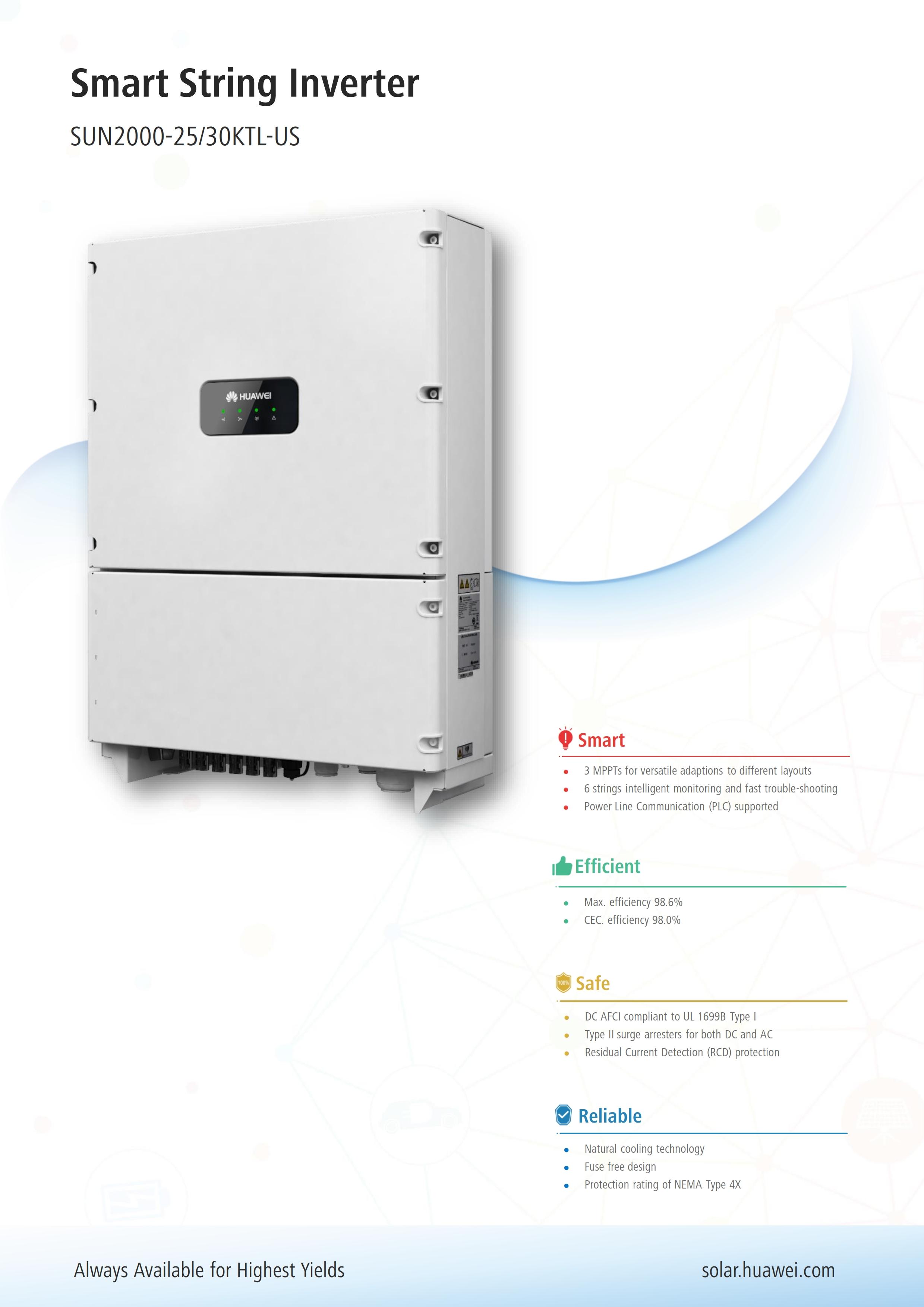 25KW/30KW Huawei String Inverter