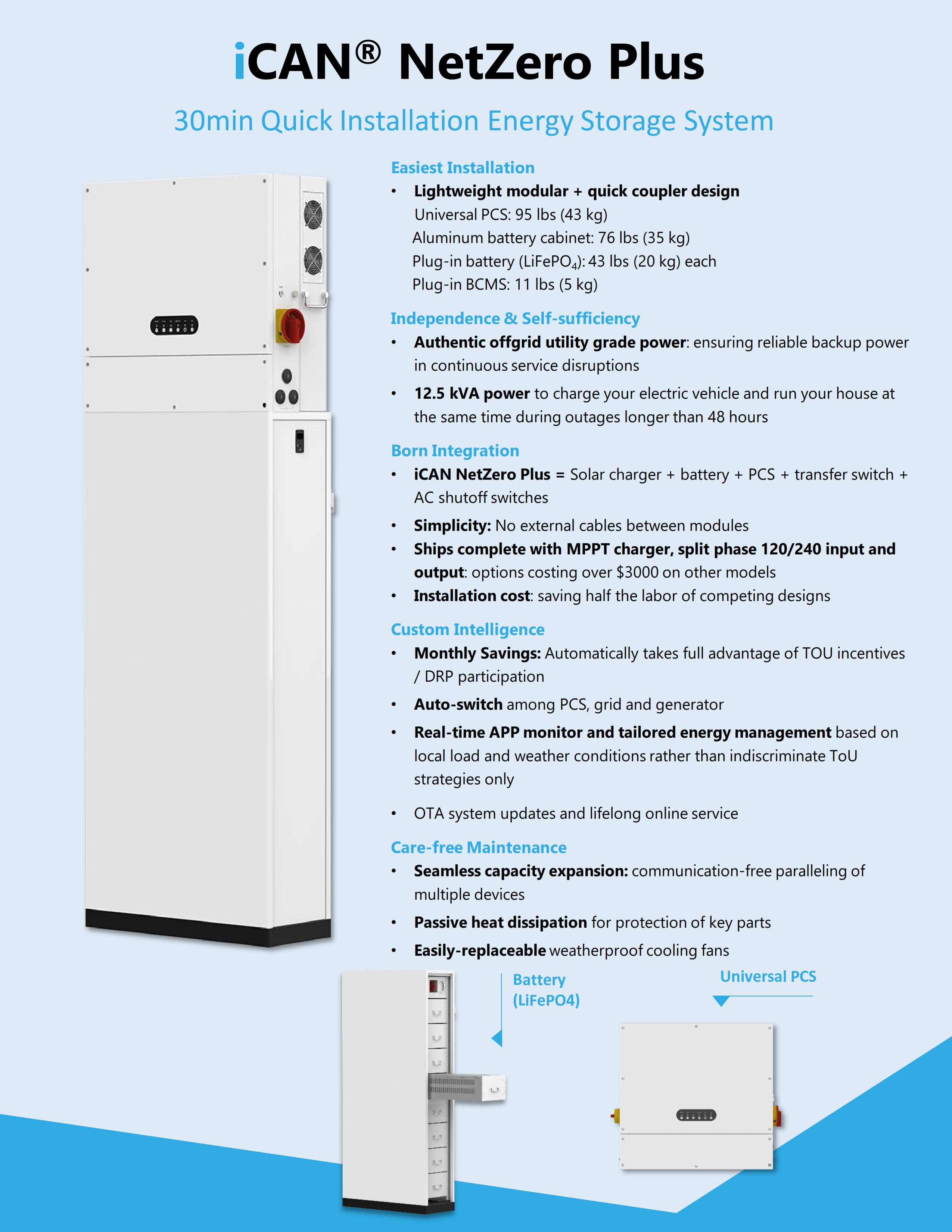 NetZero Plus 12.5kW/20kWh BESS 202102